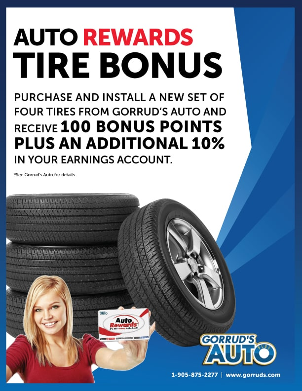 Auto Rewards Tire Bonus