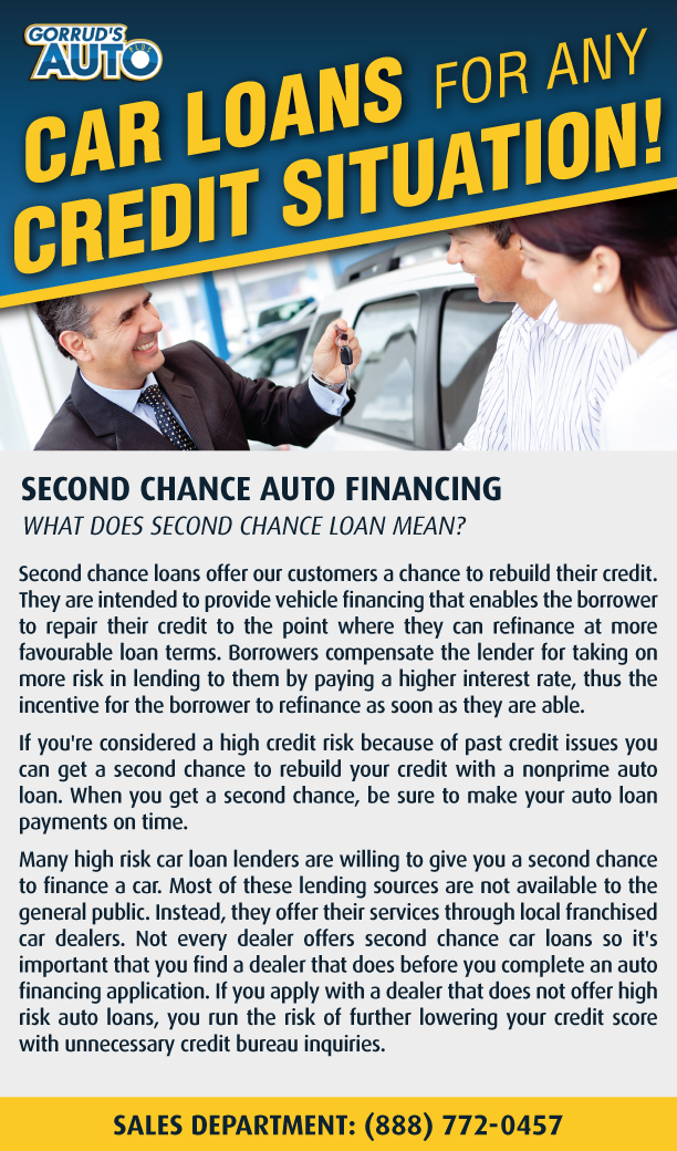 Second Chance Auto >> Second Chance Auto Financing Gorrud S Auto Group