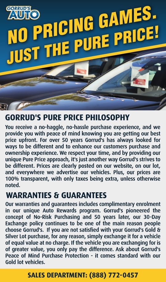Gorrud's Pure Price