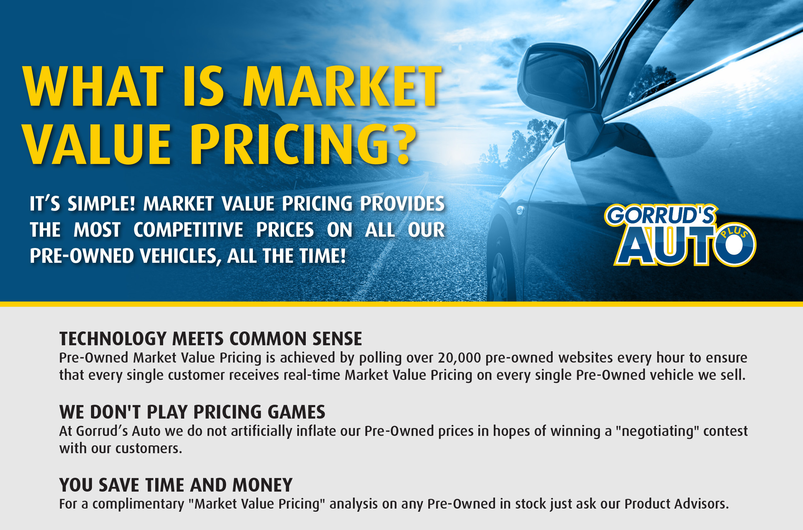 Market Value Pricing Gorrud S Auto Group Milton Used Cars