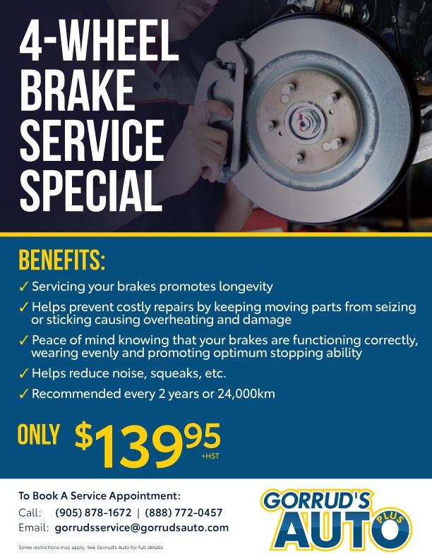 4-Wheel Brake Service Special