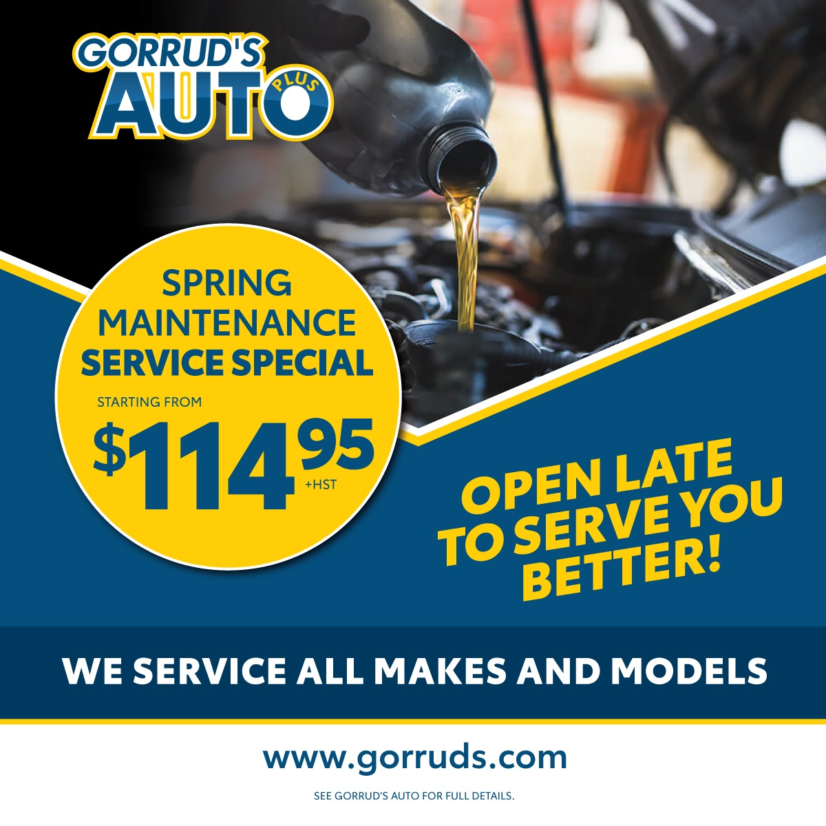 Spring Maintenance Service Special